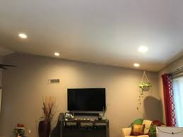 family room installed 4x 6 inch 2700k led recessed lights