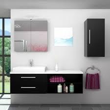 badmöbel set city 205 v2 esche schwarz badezimmermöbel waschtisch 160 cm 20060 001 ohne spiegelschrankbeleuchtung