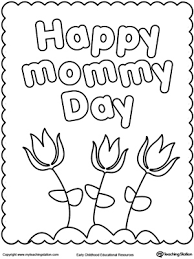 FREE Happy Mothers Day Coloring Page Worksheet Celebrate Mommy By Giving