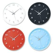 Large Colorful Wall Clocks Amazoncom Lemnos Nine Clock Various Colors 11 Multi Coloured