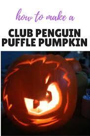 Penguin Halloween Pumpkin Stencil by Club Penguin Puffle Halloween Pumpkin Template Dragons And Fairy