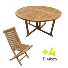 table pliante chaises table 4 chaises pliantes gain de place blanc