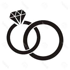 Silhouette Engagement Ring Wedding Rings Clipart Black And