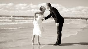 Vintage Wedding Beach Photography HD Wallpaper