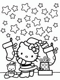Download Hello Kitty Coloring Page Christmas And Stars Or Print