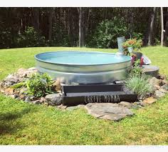 Horse Water Trough Bathtub by Stock Tank Swimming Pool With Salt Water System Piped Back In With