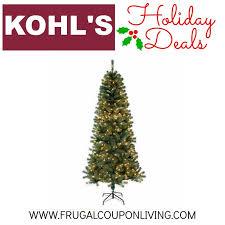 Kohls Holiday Deals Pre Lit Christmas Tree Frugal