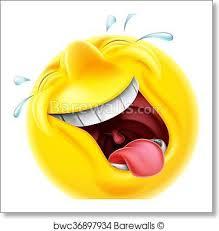 Art Print Of Laughing Emoji Emoticon