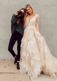 Boho Lace Wedding Dresses Layered Tulle Appliques A Line Bridal Illusion Sleeves Rustic Country Gowns 2017 Backless