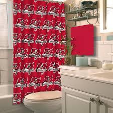 Pittsburgh Steelers Bathroom Set by Amazon Com Nfl Tampa Bay Buccaneers Shower Curtain Home U0026 Kitchen