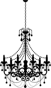 Freebies Week Chandelier Silhouettes