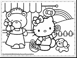 Beautiful Girls Hello Kitty Coloring Pages With And