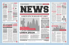 Vintage Newspaper Journal Template Typography Design With Columns