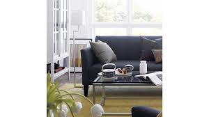 margot small blue couch crate and barrel