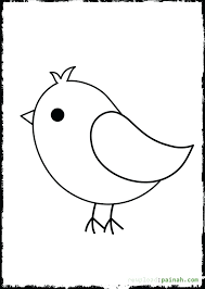 Bird Coloring Pictures To Print Cute Pages Free Printable View Larger For Preschoolers