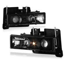 100 Chevy Truck Headlights 88 98 CK 150025003500 Projector Chrome Blue