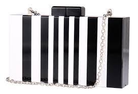 delicate black white handbags clutch chain shoulder acrylic purse