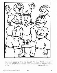Lesson 9 The Forgiving Prince Joseph Forgives His Brothers Coloring Sheet