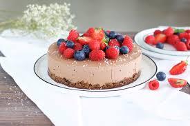 gesunde schokoladen mousse torte
