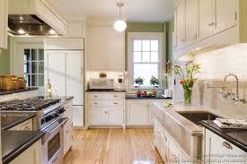 Kitchen White Cabinets Wood Floor