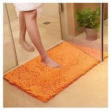 orange badvorleger und weitere badtextilien günstig