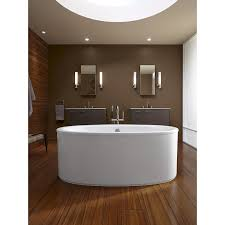 Kohler Villager Tub Rough In by Kohler K 6368 0 Sunstruck 66 Inch X 36 Inch Oval Freestanding Bath