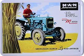 ackerdiesel 18 ps traktor trecker blechschild 20 x 30 cm