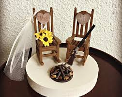 Rustic Wedding Cake Toppers Topper Cabin Chairs Rocking Chair