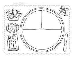 Coloring Page Meal Prayer And Place Mats Thanksgiving Sheet Placemat Christmas Pages Bunny Mat