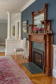 Boston Newburyport Blue With Traditional Dining Side Chairs Room Victorian And Fireplace Historic
