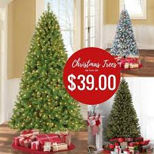 Walmart Christmas Trees On Sale 6 Ft Pre Lit Tree Only 39
