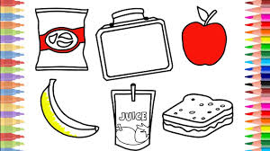 How To Draw Lunch Box Set