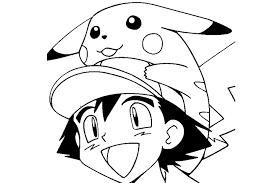 Pokemon Ash Pikachu Printable