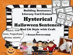 Halloween Mad Libs Pdf by Hysterical Halloween Sentences Activity By Susanpowers09