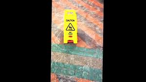 Caution Wet Floor Banana Sign by Wet Floor Sign Mini Caution Cone At Central Station Youtube