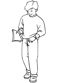 Click To See Printable Version Of School Boy Coloring Page