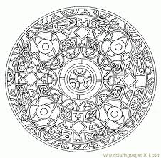 Free Background Coloring Printable Mandala Pages Adults In M And
