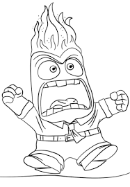 Click To See Printable Version Of Inside Out Anger Coloring Page