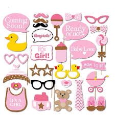 Amazoncom COKOHAPPY Pink And Gold Girls Baby Shower Photo Booth