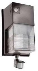 rab lighting 28w cfl tallpack wallpack w motion sensor wptf28msw