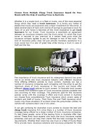 100 Cheap Truck Insurance Choose From Multiple Cheap Truck Insurance Based On Your Needs With