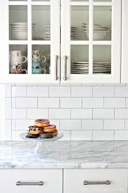 best 25 subway tile backsplash ideas only on white