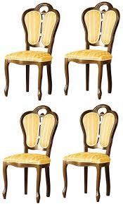 casa padrino luxus barock esszimmer set braun weiß gold 48 x 43 x h 104 5 cm 4 esszimmerstühle barock esszimmermöbel
