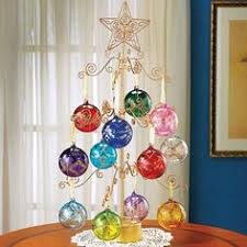 24 Gold Metal Tree Spinning Ornament Display