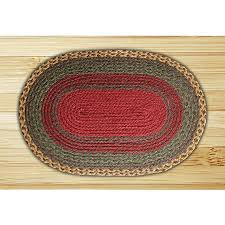 Green Jute Rug by Burgundy Green Sunflower Oval Braided Jute Rug Woodlanddirect