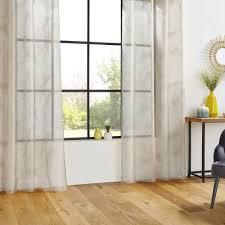 gardine für wohnzimmer leaf 140 x 240 cm blätter motiv