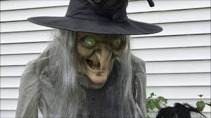 Motion Activated Halloween Decorations by Lunging Haggard Witch Seasonal Visions Animated Halloween