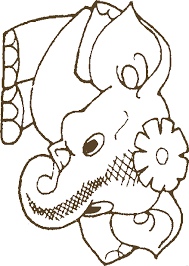 Dancing Elephant Coloring Pictures