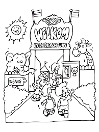 Printable Zoo Animal Coloring Pages