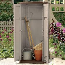 suncast vertical storage shed 138479 patio storage at